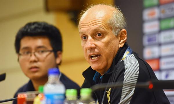 HLV Thái Lan, Alexandre Gamabị truyền thông Thái Lan đổ trách nhiệm sau trận thua Việt Nam. Ảnh: Giang Huy.