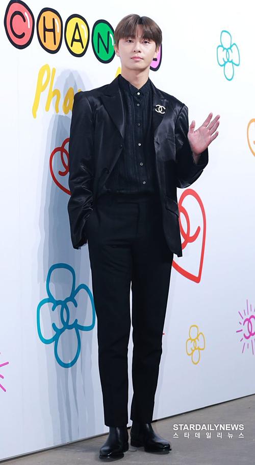 Nam diễn viên Park Seo Joon cũng có mặt tại sự kiện. Kiểu tóc của anh chàng khiến fan liên tưởng đến Hwang Min Hyun (NUEST).