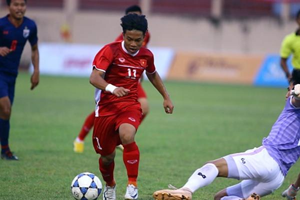 Phạm Xuân Tạo số 11 ghi bàn giúp U19 Việt Nam lên ngôi vô địch.