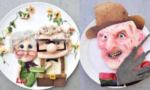 Món ăn trang trí như tác phẩm nghệ thuật 'đẹp không nỡ ăn'