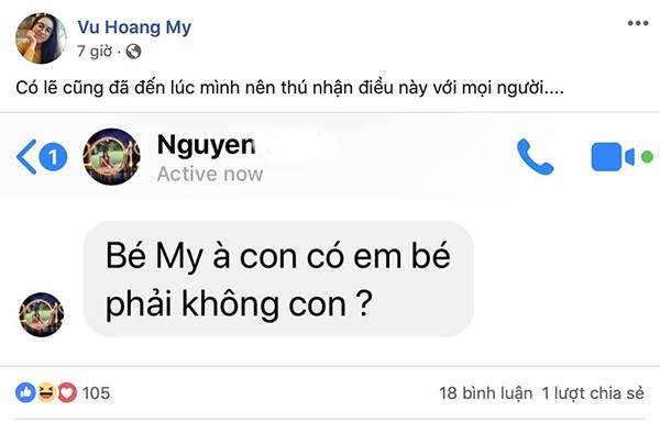 Chia sẻ vui của Á hậu Hoàng My.