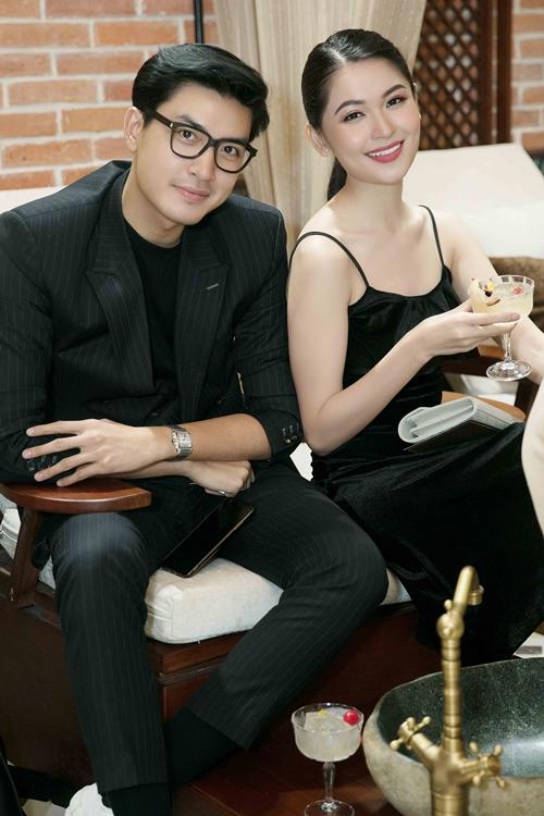 Á hậu Thùy Dung và người mẫu Quang Đại.