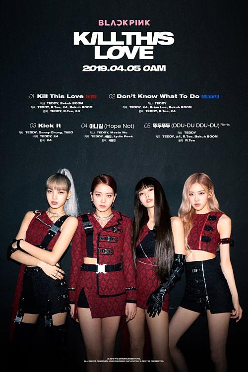 Đi kèm với tracklist là một tấm poster mới cũng được YG hé lộ.