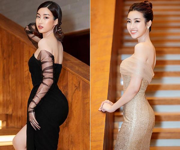 So sánh với những lần diện váy ôm trước đó, có thể thấy sự khác biệt về thân hình của Mỹ Linh.