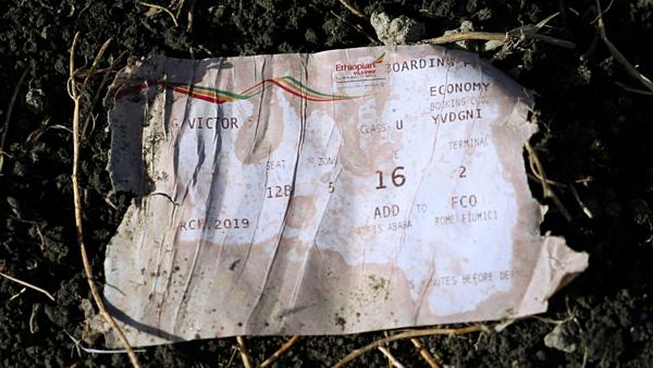 Một thẻ lên máy bay được tìm thấy tại địa điểm gặp nạn.