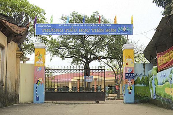 Trường tiểu học Tiên Sơn, Bắc Giang. Ảnh: Huy Mạnh