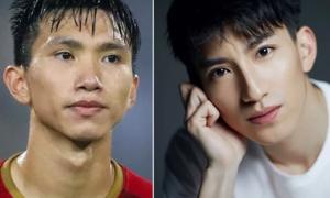 Văn Hậu giống diễn viên Trung Quốc như anh em sinh đôi