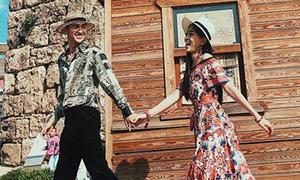 Phương Nga - Bình An khoe ảnh du lịch nước ngoài đẹp như tạp chí