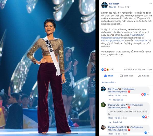Top 5 Miss Universe H'Hen Niê ủng hộ thông điệp nhân văn của chương trình từ những ngày đầu.
