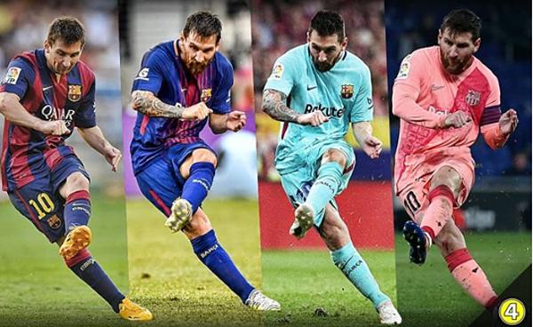 Kỹ thuật sút phạt của Messi. Ảnh: Sportbible