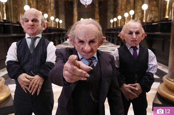 Những yêu tinh được tái hiện tại Ngân hàng phù thủy Gringotts.