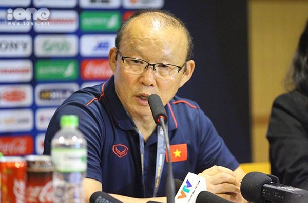 HLV Park chia sẻ sau trận đấu ra quân gặp Brunei tối 22/3.