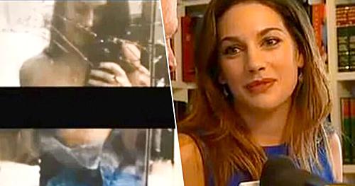 Lauren Miranda và bức hình khiến cô bị đuổi việc.