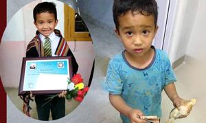 Cậu bé Ấn Độ đưa gà đi cấp cứu được nhận bằng khen