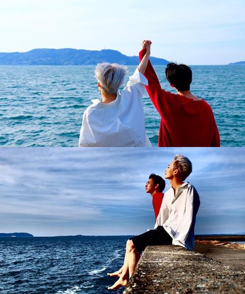 The8 chụp ảnh tình cảm cho bộ đôi Joshua và Jeong Han.