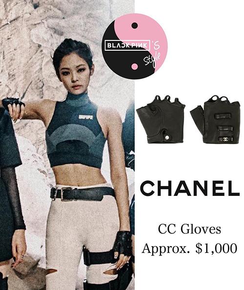 Nữ rapper còn diện một chiếc croptop rẻ nhất trong các trang phục, giá chỉ 1,5 triệu đồng. Tuy nhiên cô nàng được kết hợp cùng găng tay 23 triệu đồng của Chanel để tăng đẳng cấp.