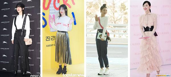 Sulli được coi là biểu tượng thời trang ở xứ Hàn. Cô nàng là người thường xuyên mở đầu cho nhiều xu hướng độc lạ, được nhiều cô gái học hỏi theo. Tuy sở hữu hình thể đẹp, Sulli thường xuyên giấu dáng trong những chiếc quần ống rộng, váy dáng dài và boots. Nhiều bộ trang phục của nữ ca sĩ bị chê quá rườm rà.