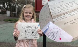 Bé gái được hồi âm khi viết thư cho mẹ nơi thiên đường
