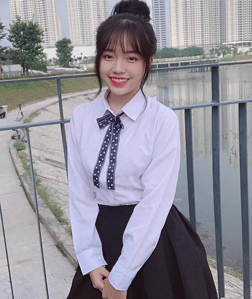 Hình tượng nữ sinh đáng yêu của Linh trong phim.