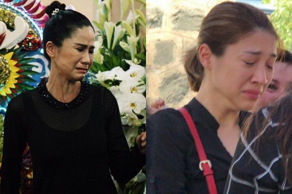 Nghệ sĩ Vân Anh, Pha Lê không cầm được nước mắt khi viếng Anh Vũ vào chiều 9/4.