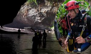 Nhóm thợ lặn giải cứu đội bóng Thái Lan phát hiện hang ngầm ở Sơn Đoòng
