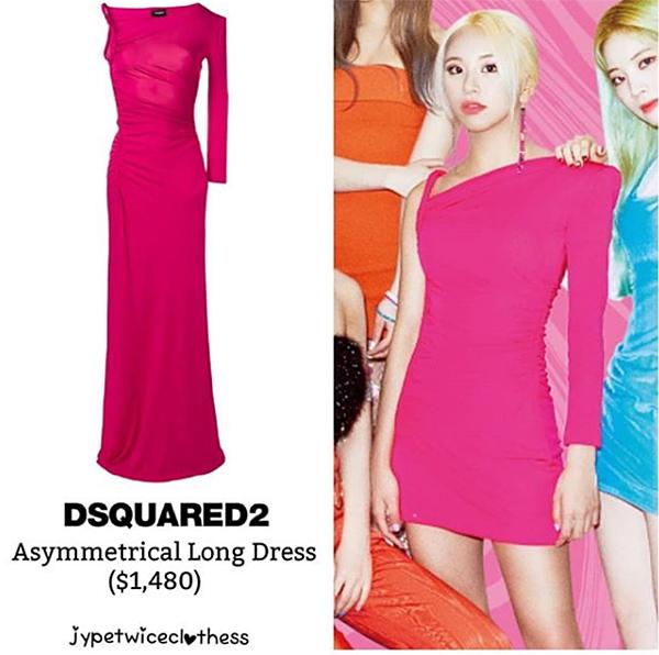 Stylist không ngại chi khoảng 34 triệu đồng để sắm chiếc váy Dsquared2 cho Chae Young, sau đó cắt ngắn không thương tiếc để giúp cô nàng khoe chân thon gợi cảm.