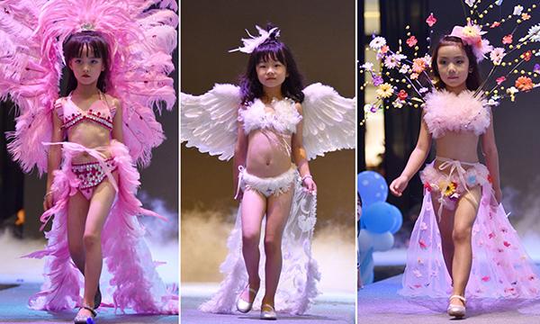 Mẫu nhí trong một show nội y trẻ em ở Trung Quốc.