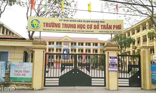 Trường THCS Trần Phú (Q.Hoàng Mai, Hà Nội).