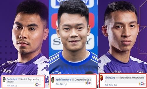 Những comment lầy lội từ các đồng đội cùng CLB Hà Nội