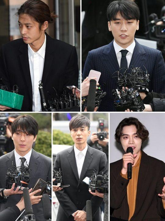 Những thành viên là người nổi tiếng trong nhóm chat Jung Joon Young đều đã nhận tội quay lén/phát tán hình ảnh bất hợp pháp.