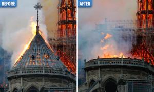 Tổng thống Pháp hứa xây lại Nhà thờ Đức Bà Paris