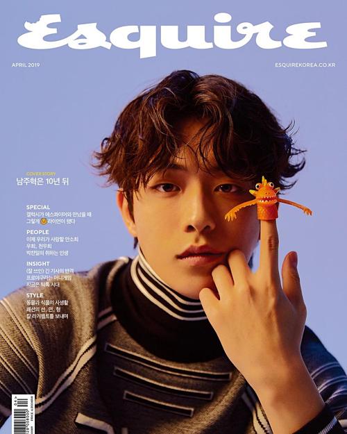 Nam Joo Hyuk là gương mặt trang bìa của Esquire. Nam diễn viên vừa trở thành đại sứ thương hiệu Dior Men tại châu Á, hứa hẹn sẽ tiếp tục chiếm sóng trên các tạp chí thời trangthời gian tới.