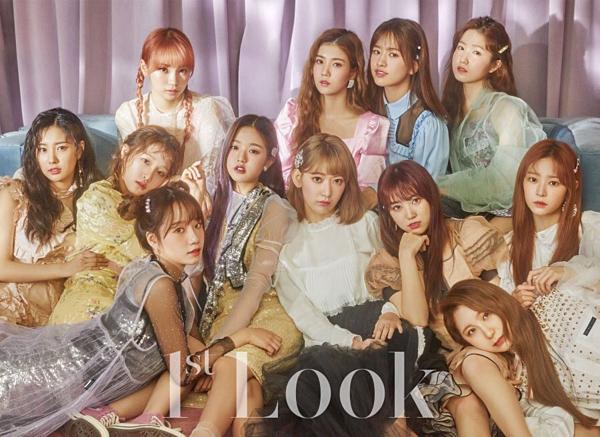 IZONE được khen ngợi về nhan sắc xinh đẹp đồng đềutrên tạp chí 1st Look.
