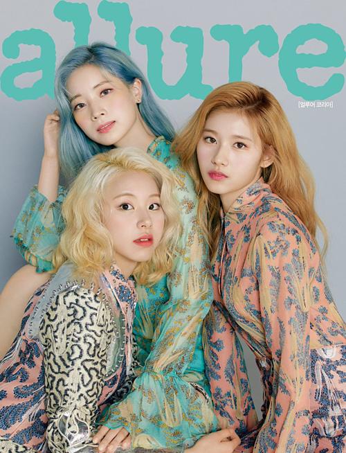 Da Hyun, Chae Young và Sana mỗi người một màu tóc nổi bật.
