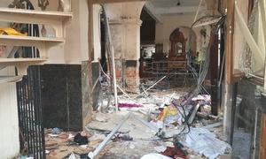 Khung cảnh hoang tàn sau 8 vụ nổ ở Sri Lanka