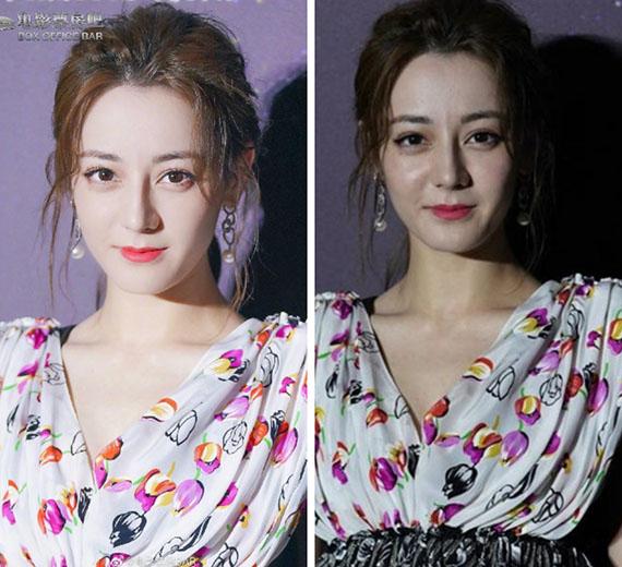 Địch Lệ Nhiệt Ba có nhan sắc thực khác xa ảnh photoshop.