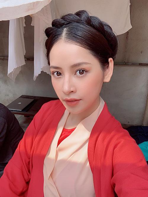 Chi Pu khoe tạo hình cổ trang xinh đẹp trong MV chuẩn bị ra mắt.