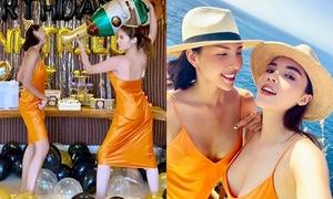Kỳ Duyên mặc đồ đôi, làm sinh nhật cho Minh Triệu ở Bali