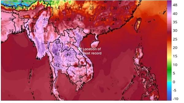 Báo Mỹ đưa tin về đợt nắng nóng kỷ lục ở Việt Nam