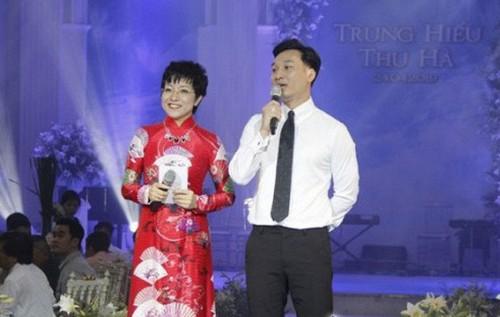 Thảo Vân và Thành Trung dẫn đám cưới Trung Hiếu.