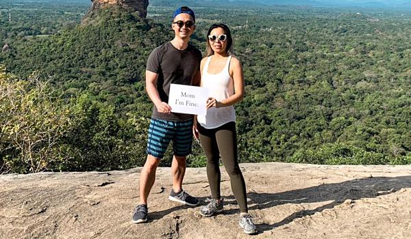 Annie Wu và chồng Ryan Xu đã rời khỏi thành phố Colombo sau vụ nổ bom đến một nơi an toàn.