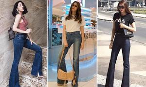4 lý do quần jeans ống loe là món đồ được sao Việt chuộng nhất hè