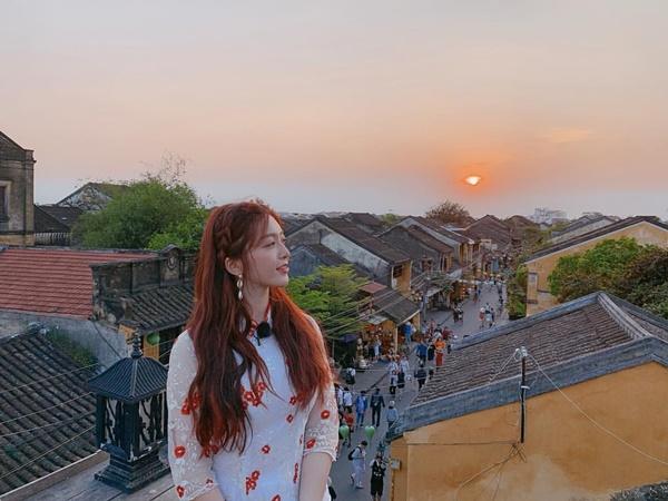 Chan Mi (AOA) chia sẻ khoảnh khắc tuyệt đẹp trong chuyến đi Hội An cách đây không lâu.