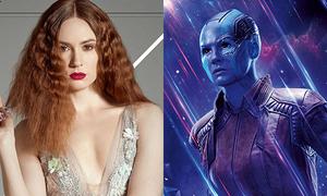 Vẻ gợi cảm của mỹ nhân đầu trọc da xanh trong 'Avengers'