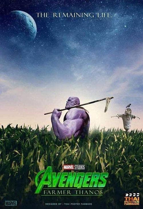 Sau cái búng tay làm bay màu phân nửa dân số Trái đất, Thanos có thê yên tâm gác kiếm trở thành một nhà nông chính hiệu.