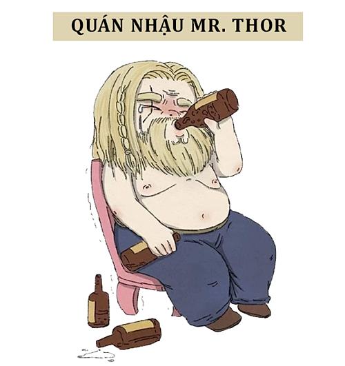 Sau nhiều năm dài chinh chiến, Thor dốc hết vốn mở một quán nhậu nhập khẩu bia đặc biệt từ quê nhà Asgard.