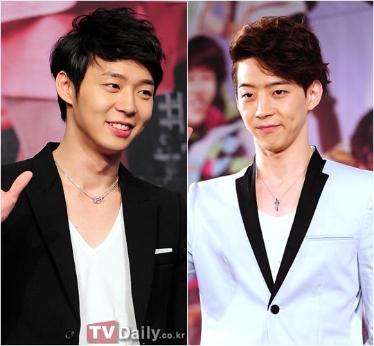 Yoo Chun và em trai kém 5 tuổi Yoo Hwan (phải). Park Yoo Hwan từng ra mắt làm diễn viên, đóng một số vai phụ.