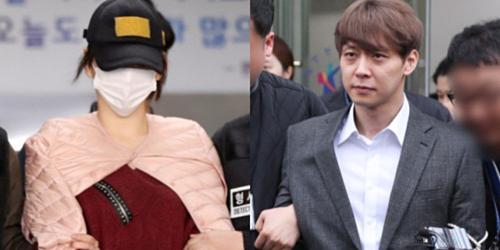 Hwang Hana và Park Yoo Chun khi bị cảnh sát bắt.