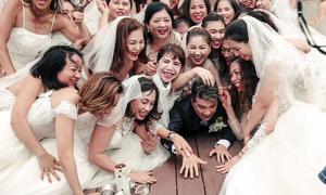 Đàm Vĩnh Hưng tháo chạy vì bị 50 cô dâu rượt đuổi