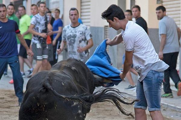 Fran Gonzalez, hình trong một lễ hội bò tót trước đó.